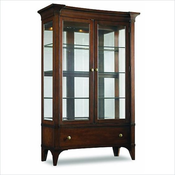 Birch Lane Abington Carston Solid Pine Lighted Display: Hooker Furniture Abbott Place China Cabinet In Warm Cherry