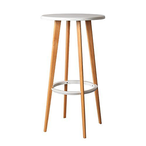 Ysnbm Bar Stools Bar High End Table European Modern Minimalist Creative Round Table Solid Wood Designer Bar Table High Solid Wood Design High Table Bar Stools