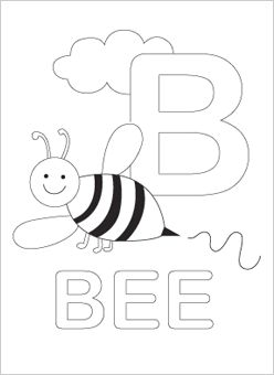Starry Letter B Coloring Page