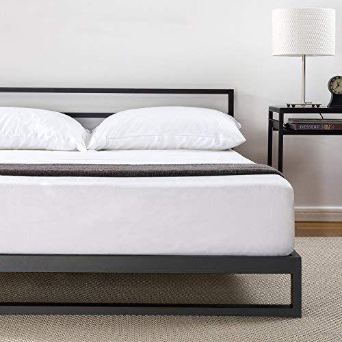 Zinus 7 Inch Platforma Bed Frame With Headboard Mattress