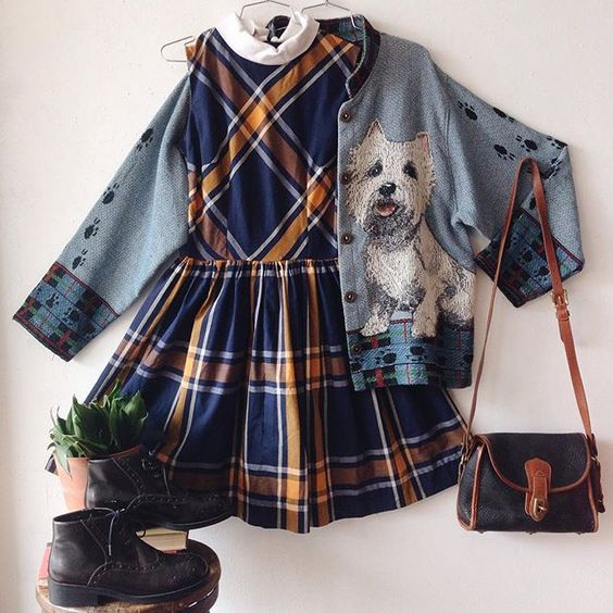 WEBSTA @ charmschoolvintage - This schoolgirl is bummed she can't bring her dogs…