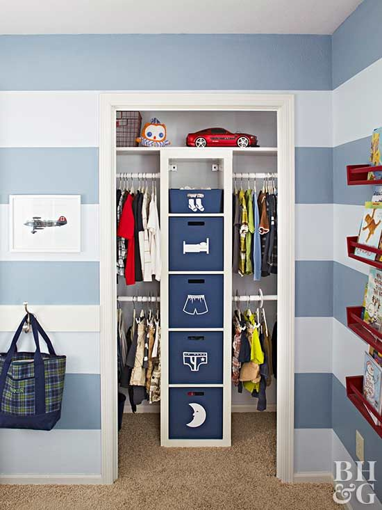 Genius Storage Ideas For Every Closet In Your Home Kids Closet Organization Kids Room Organization Boys Kids Room Organization