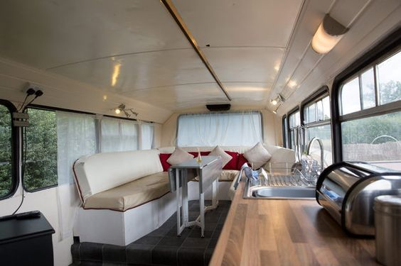 GV of the bus Andrew and Lisa Jayne-Powis have transformed into a holiday home.