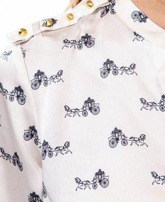 Horse Pattern Blouse | LOVE21 - 2043642558