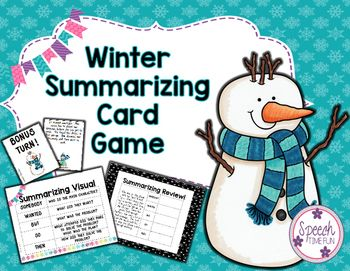 Winter Summarizing Card Game:  Have fun learning to use somebody-wanted-but-so-then strategy to summarize!