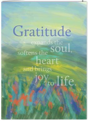 Gratitude brings joy to life!
