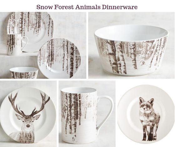 Snow Forest Animals Dinnerware