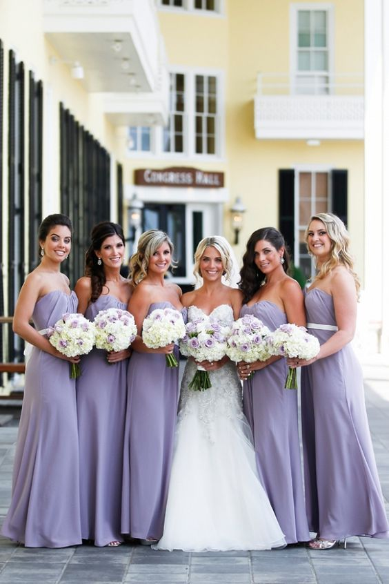 Lavender And White Roses Bridal Bouquet Lavender Bridesmaid