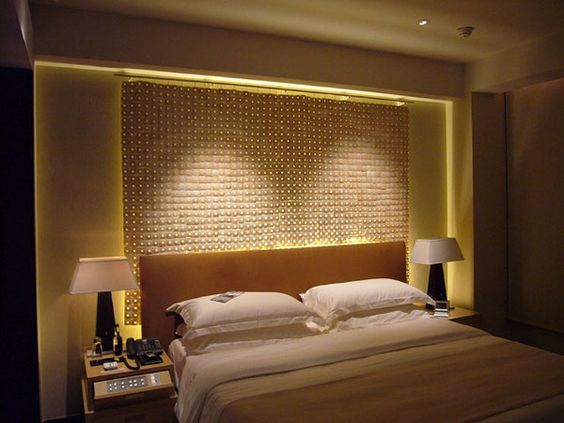 About Bedroom Lighting Ideas: Beauteous Bedroom Lighting Ideas With Contemporary Wall Art Using Modern Curtains And Lamps Background Also Modern Bedside Table Cream Wall Painting For Master Bedroom Design ~ surrealcoding.com bedroom Inspiration