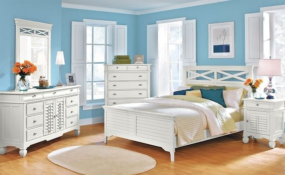 Plantation Cove White Bedroom Collection Value City