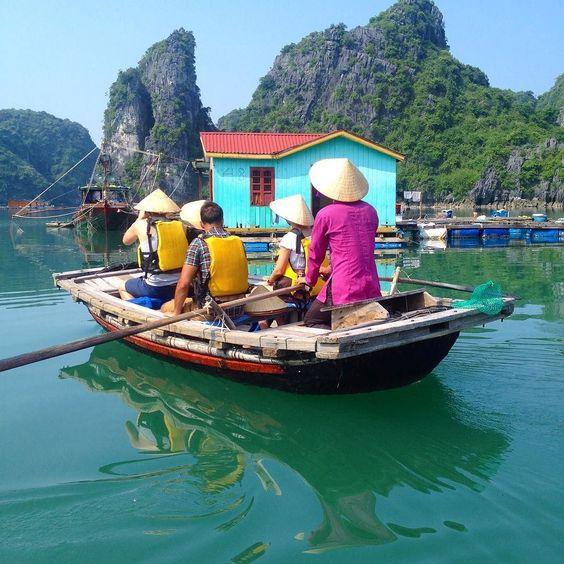 Exploring a fishing village in Bai Tu Long Bay #viethanam