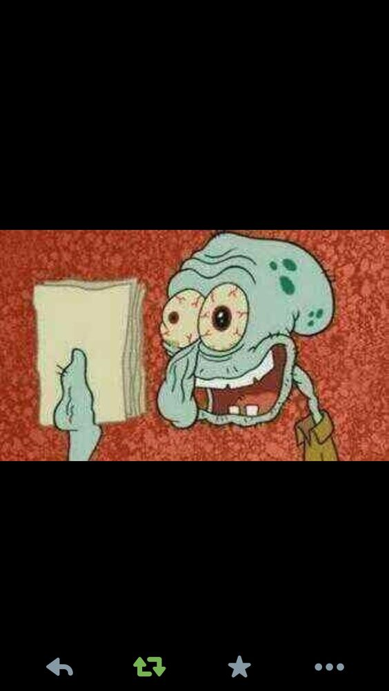 After doing homework all night XD