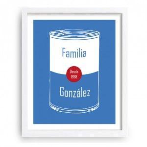Diseño wharholiano que te permite introducir tu apellido familiar y año de inicio - www.miarbolfamiliar.es