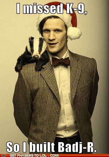 I love Matt's weird obsession with badgers!