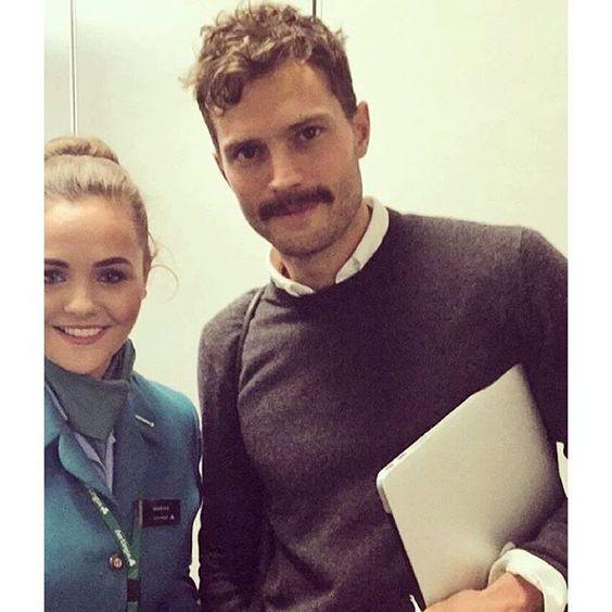 Jamie with an fan