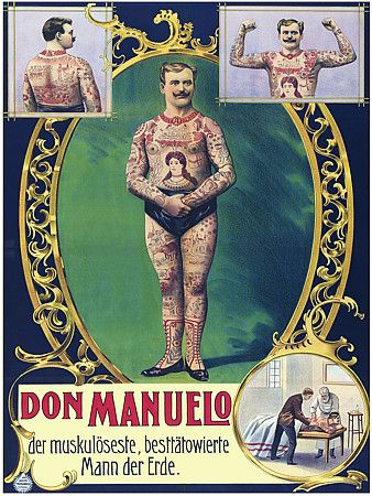 Don Manuelo  'The strongest, most tattooed man on Earth'  1908