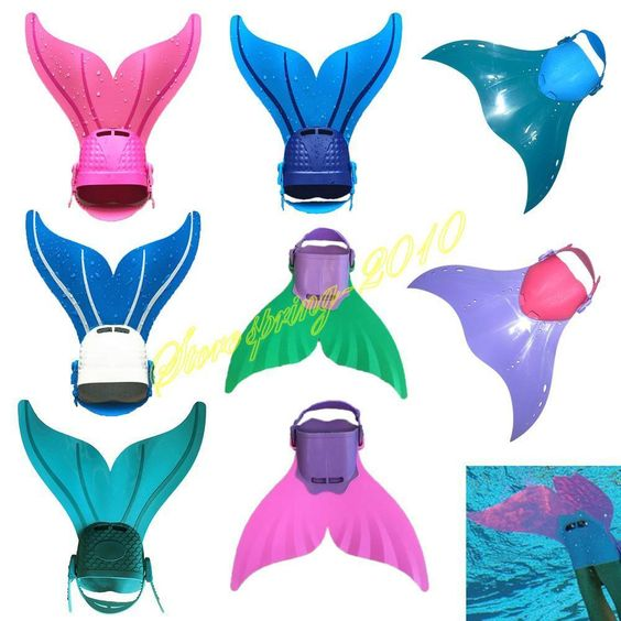 Kids Adults Mermaid Monofin Flosse Flippers Swimming Toy Mermaid Tails Prop New | eBay
