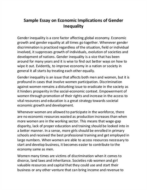 Research Paper Buy Sample Essay Gender Equality Inequality
