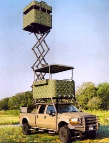 WHAATTT?!?  LOL http://www.bkgdiamond.com Hunters dream... Super Duty Ford truck...now that's a roof rack!