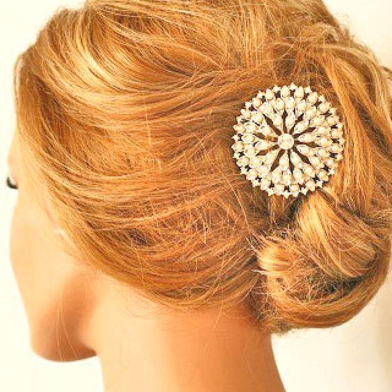 : Reception, Hair Ideas, Hair Pin, Hair Styles, Hairpin, Beautiful Hair, Hair Bling, Hair Inspiration, My Style