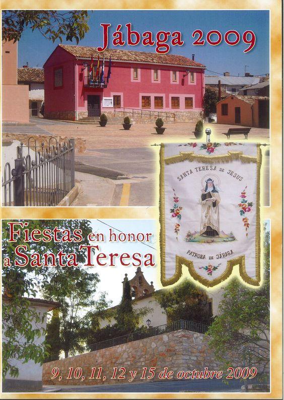 Fiestas en Jábaga (Cuenca), en honor a Santa Teresa. Del 9 al 15 de octubre de 2009. Pregón de fiestas a cargo de Máximo Díaz Cano. #Fiestaspopulares #Jabaga #Cuenca