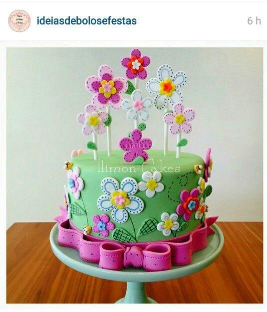 Primavera flores dulve jardin tortas decoradas - Jardines decorados para fiestas ...