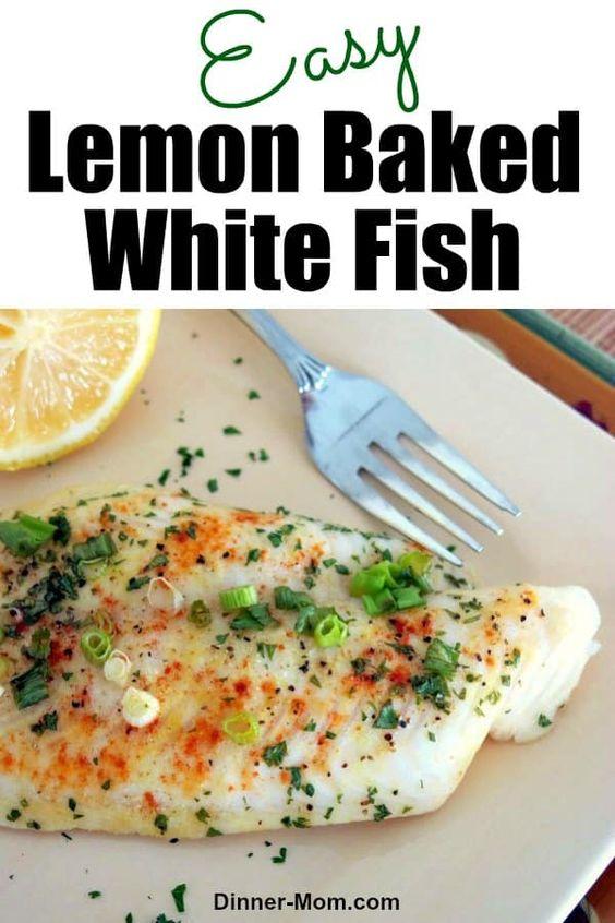 Lemon Baked White Fish