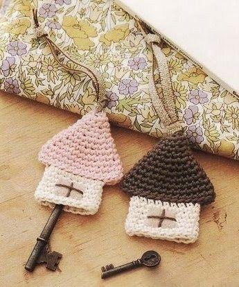 key hangers crochet idea crocheting and knitting pinterest h kelideen h keln und schl ssel. Black Bedroom Furniture Sets. Home Design Ideas