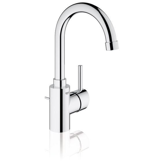 Mitigeur de lavabo CONCETTO II monocommande 15x21, bec mobile avec butée, mousseur, tirette et garniture de vidage 33x42, chromé Réf 3262900 - GROHE - null