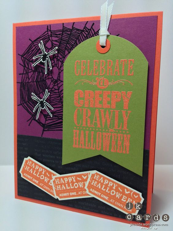 Halloween Card by Justin , Stamp sets Bite me, Halloween Bash, That's the ticket, Stampin up