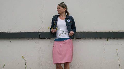 Nähanleitung und Schnitt Damenrock Frau Antje aus Jersey bei Makerist