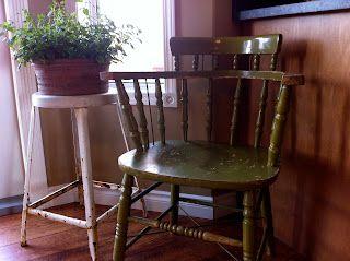 old green chair | re-new | pinterest | pietre da giardino, mobili ... - Mobili Da Giardino Idee Dipinte