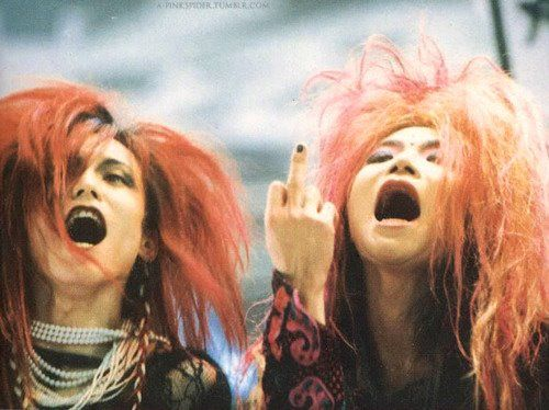 Sugizo and hide. Luna Sea and X Japan