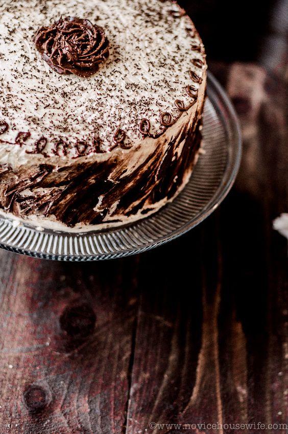 Chocolate and Vanilla Five Layer Cake #WOWfoodanddrink