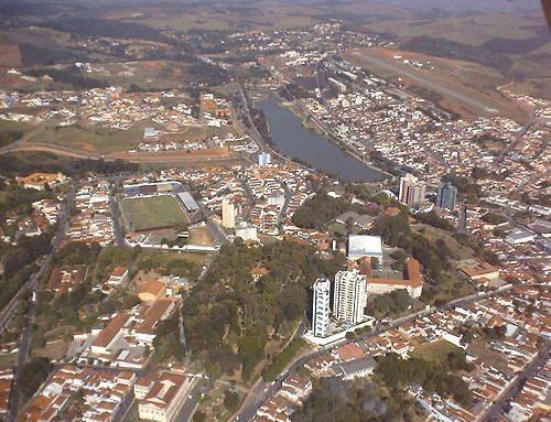 Vista aerea Bragança Paulista, SP.