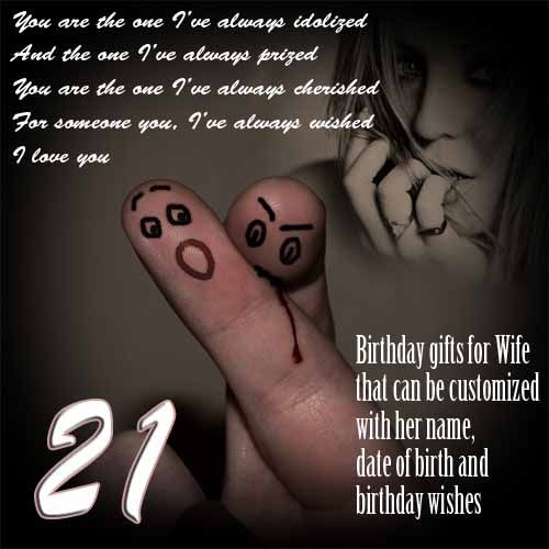 21st birthday gift for wife, ideas for women turning 21 | Wife ...