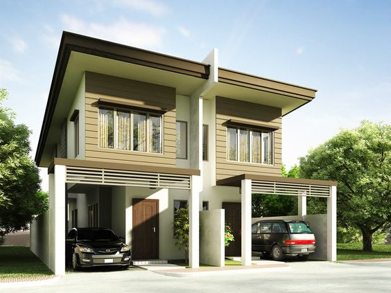 Duplex House plan PHP 2014006 is a four bedroom house plan design