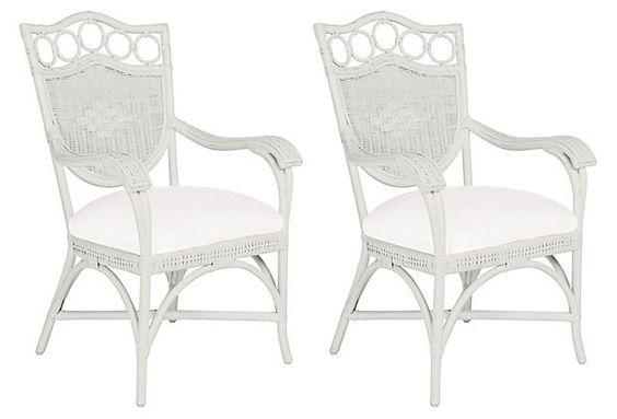 White Lee Dining Armchairs, Pair on OneKingsLane.com