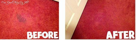 Ammonia + HOT water + iron + towel = Amazingly clean carpets!
