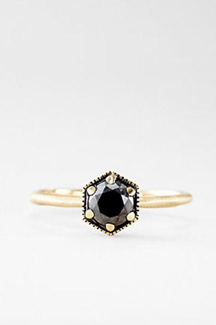 There's A New LBD — The Little Black Diamond Ring #refinery29  http://www.refinery29.com/martha-stewart-weddings/25#slide7