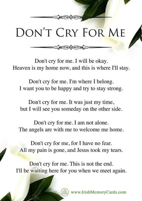 Pin By Beth Hanson On Grief Funeral Quotes Letter From Heaven Grieving Quotes