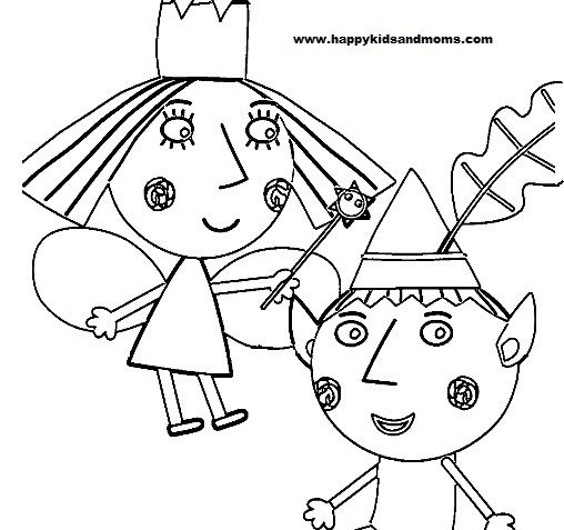 Ben And Holly Coloring Pages Ben Holly Coloring Pages Free
