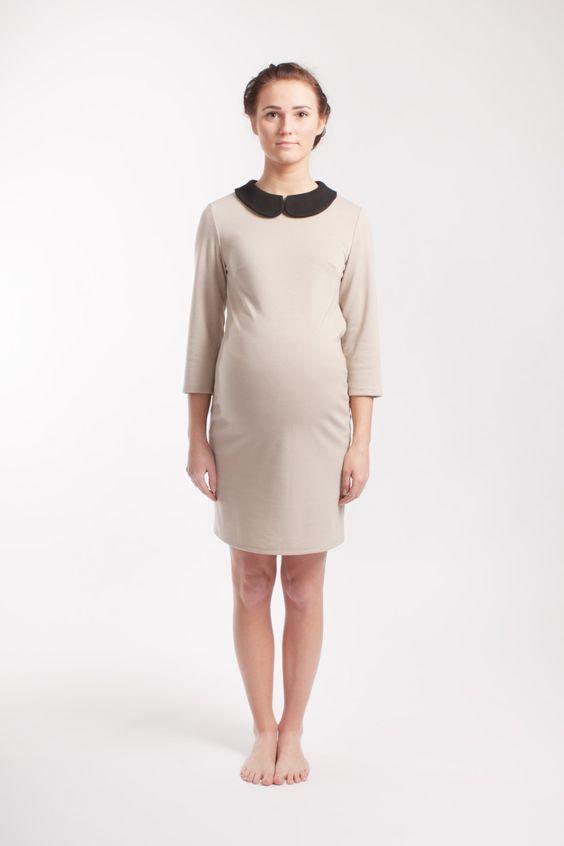 peter pan collar maternity dress.
