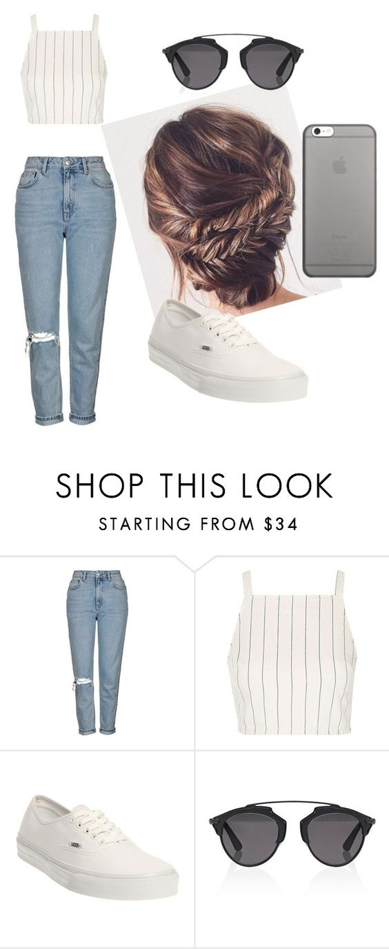 """Unbenannt #2"" by xxkathiiiixx ❤ liked on Polyvore featuring Topshop, Vans, Christian Dior and Native Union"