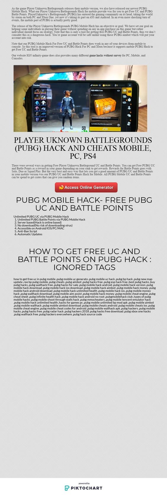 PUBG Mobile Hack Free UC and Battle Points No Survey working as of