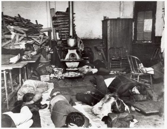 Image result for men asleep on floor 1940