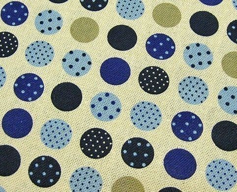 Modern Polka Dots in Blue - Japanese Cotton