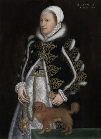 Steven van der Meulen, active 1543–1563, Netherlandish, active in Britain (from 1560), naturalized 1562, Portrait of a Woman, probably Catherine Carey, Lady Knollys, 1562, Oil on panel, Yale Center for British Art, Paul Mellon Collection: