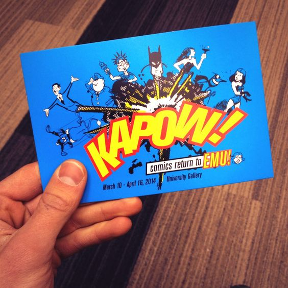 "Just got accepted into the Eastern Michigan Comics show ""KAPOW!"""