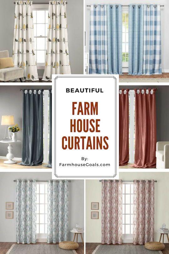 Farmhouse Curtains Rustic Curtains Farmhouse Goals Curtains Living Room Rustic Window Treatments Living Room Farmhouse Style Curtains